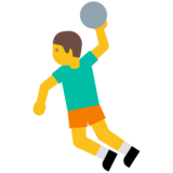 Person Playing Handball on Google Android 7.1
