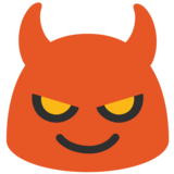 Smiling Face With Horns on Google Android 7.1