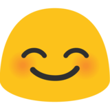 Smiling Face With Smiling Eyes on Google Android 7.1