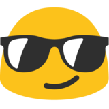 Smiling Face With Sunglasses on Google Android 7.1