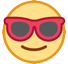 Smiling Face With Sunglasses on HTC Sense 8