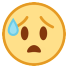 Anxious Face With Sweat on HTC Sense 7