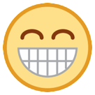 Grinning Face With Smiling Eyes on HTC Sense 7
