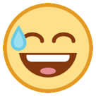 Smiling Face With Open Mouth & Cold Sweat on HTC Sense 7