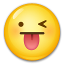 Face With Stuck-Out Tongue & Winking Eye on LG G3