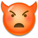 Angry Face With Horns on LG G3