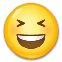 Smiling Face With Open Mouth & Closed Eyes on LG G3