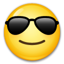 Smiling Face With Sunglasses on LG G3