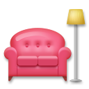 Couch and Lamp on LG G4