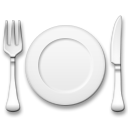 Fork and Knife With Plate on LG G4