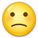 Slightly Frowning Face on LG G4