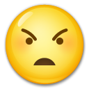 Angry Face on LG G5