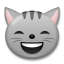 Grinning Cat Face With Smiling Eyes on LG G5
