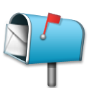 Open Mailbox With Raised Flag on LG G5