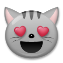 Smiling Cat Face With Heart-Eyes on LG G5