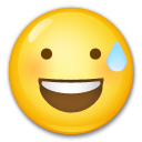 Smiling Face With Open Mouth & Cold Sweat on LG G5
