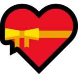 Heart With Ribbon on Microsoft Windows 10 Fall Creators Update