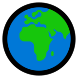 Globe Showing Europe-Africa on Microsoft Windows 10 April 2018 Update