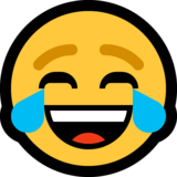Face With Tears of Joy on Microsoft Windows 10 April 2018 Update
