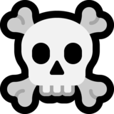 Skull and Crossbones on Microsoft Windows 10 April 2018 Update