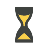 Hourglass With Flowing Sand on Microsoft Windows 8.1