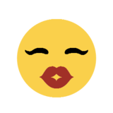 Kissing Face on Microsoft Windows 8.1