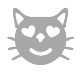 Smiling Cat Face With Heart-Eyes on Microsoft Windows 8.1