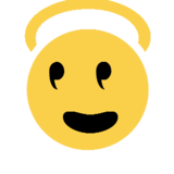 Smiling Face With Halo on Microsoft Windows 8.1