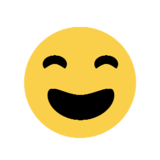 Smiling Face With Open Mouth & Smiling Eyes on Microsoft Windows 8.1