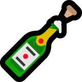 Bottle With Popping Cork on Microsoft Windows 10 Anniversary Update
