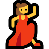 Woman Dancing on Microsoft Windows 10 Anniversary Update
