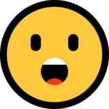 Face With Open Mouth on Microsoft Windows 10 Anniversary Update
