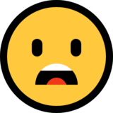 Frowning Face With Open Mouth on Microsoft Windows 10 Anniversary Update