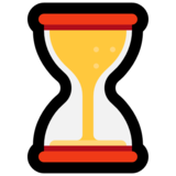 Hourglass With Flowing Sand on Microsoft Windows 10 Anniversary Update
