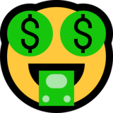 Money-Mouth Face on Microsoft Windows 10 Anniversary Update