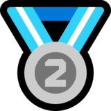 2nd Place Medal on Microsoft Windows 10 Anniversary Update