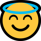 Smiling Face With Halo on Microsoft Windows 10 Anniversary Update