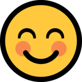 Smiling Face With Smiling Eyes on Microsoft Windows 10 Anniversary Update