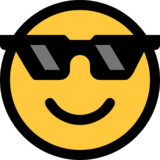 Smiling Face With Sunglasses on Microsoft Windows 10 Anniversary Update