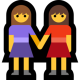 Two Women Holding Hands on Microsoft Windows 10 Anniversary Update
