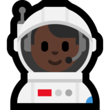 Man Astronaut: Dark Skin Tone on Microsoft Windows 10 Creators Update