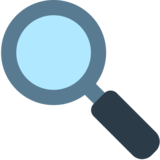 Left-Pointing Magnifying Glass on Mozilla Firefox OS 2.5
