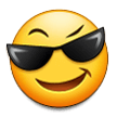 Smiling Face With Sunglasses on Samsung Galaxy S8 (April 2017)