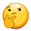 Thinking Face on Samsung Galaxy S8 (April 2017)