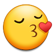 Kissing Face With Closed Eyes on Samsung Galaxy S4