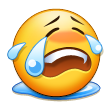 Loudly Crying Face on Samsung TouchWiz Nature UX 2