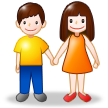 Man and Woman Holding Hands on Samsung Galaxy S4