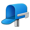 Open Mailbox With Lowered Flag on Samsung Galaxy S4