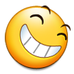 Smiling Face With Open Mouth & Closed Eyes on Samsung Galaxy S4
