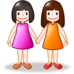 Two Women Holding Hands on Samsung Galaxy S4
